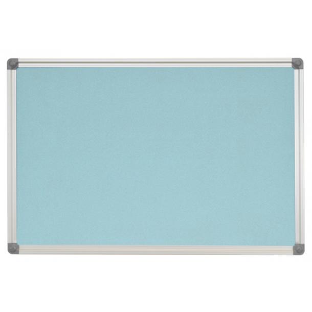 AZURE cork memo board 75x110cm with an aluminium DecoLine frame