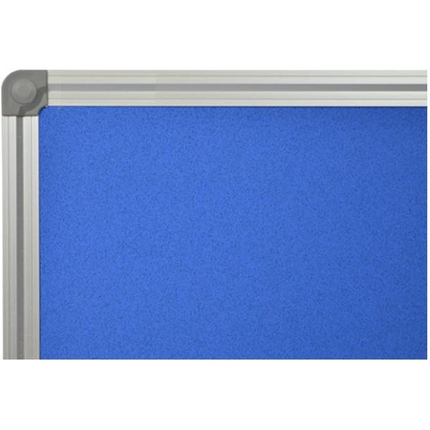 BLUE cork memo board 80x100cm with an aluminium DecoLine frame