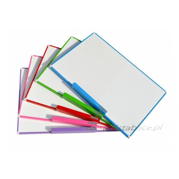 PURPLE aluminium framed magnetic whiteboard 90x120cm