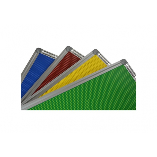 YELLOW perforated magnetic board 90x120cm with a DecoLine aluminium frame