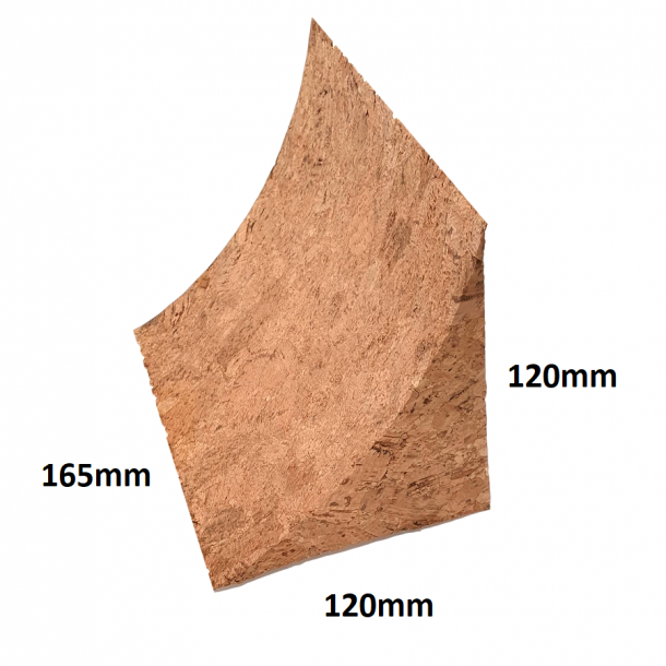 Cork wedges 120x120x165mm (R = 130mm) - price for 4 pcs.
