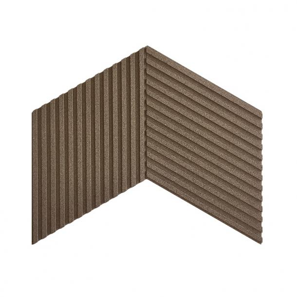 Unique and decorative BEIGE GREY (RAL 7006) 3D STRIPES cork wall tiles