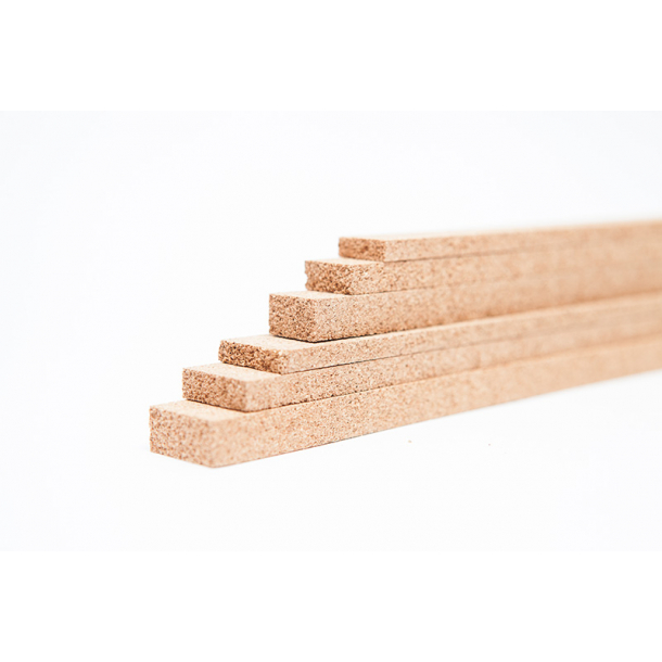Cork strips 5x23x950mm for expansion joints - 40 pcs.