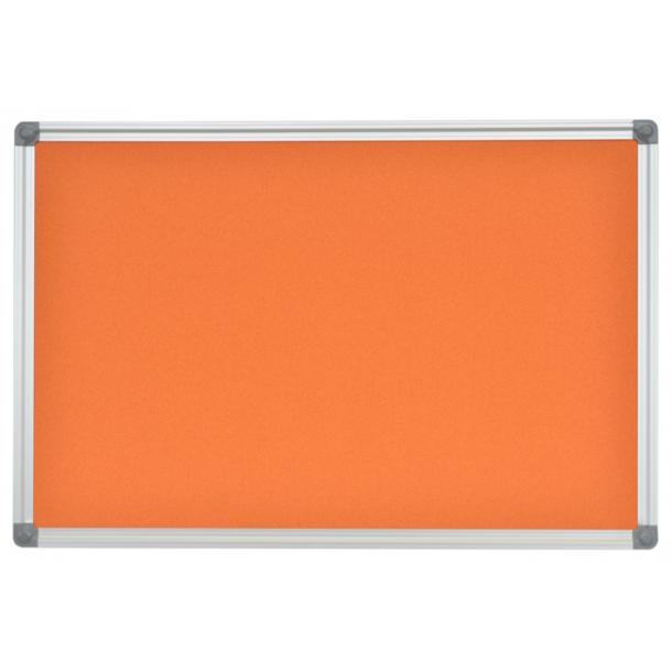 ORANGE cork memo board 50x70cm with an aluminium DecoLine frame