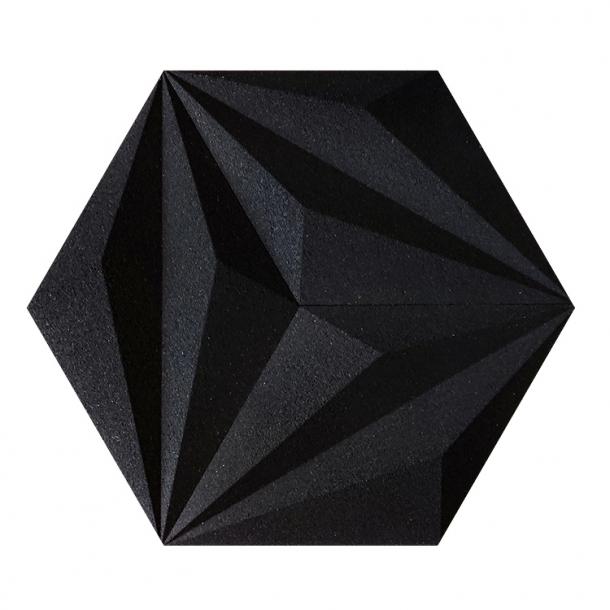 Unique and decorative BLACK cork wall tiles 3D LINES - BESTSELLER!