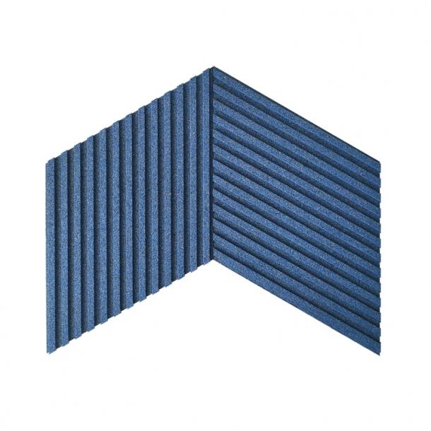Unique and decorative BLUE cork wall tiles 3D STRIPES