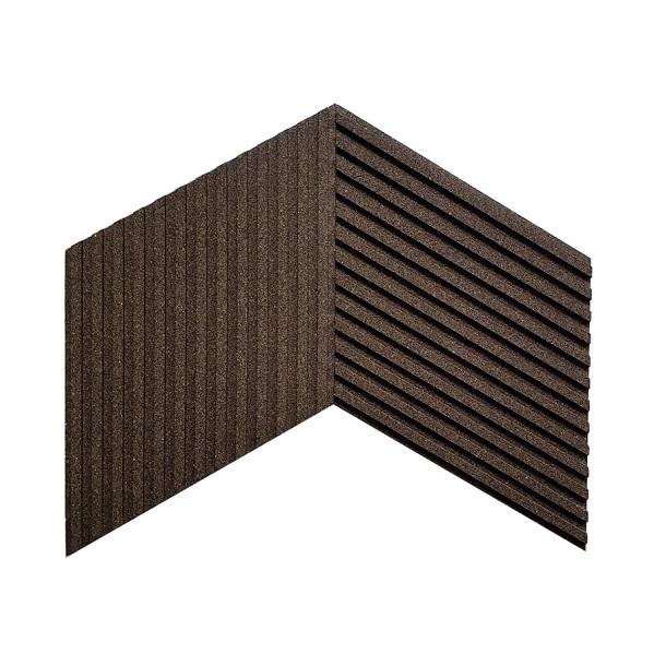 Unique and decorative BLACK COFFEE cork wall tiles 3D STRIPES