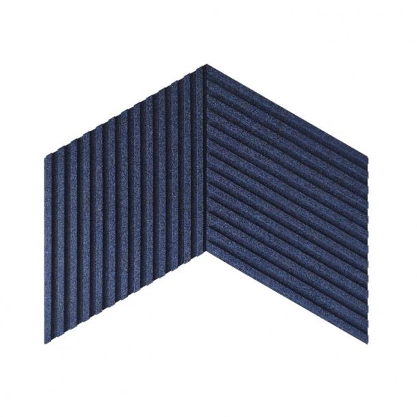 Unique and decorative DARK BLUE cork wall tiles 3D STRIPES