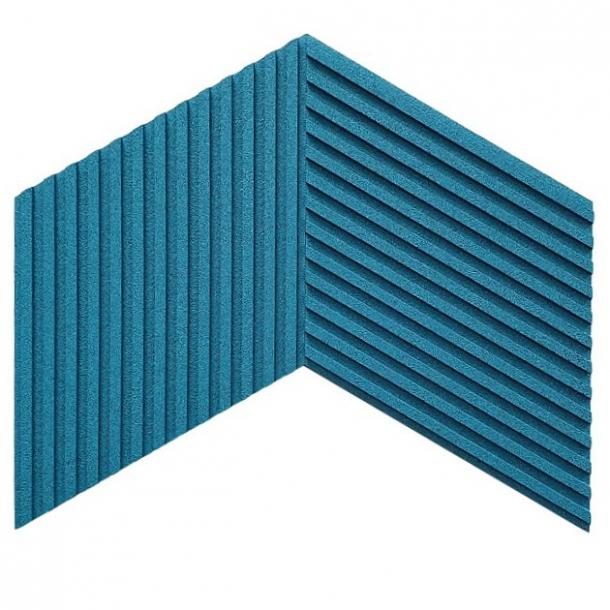 Unique and decorative TURQUOISE cork wall tiles 3D STRIPES