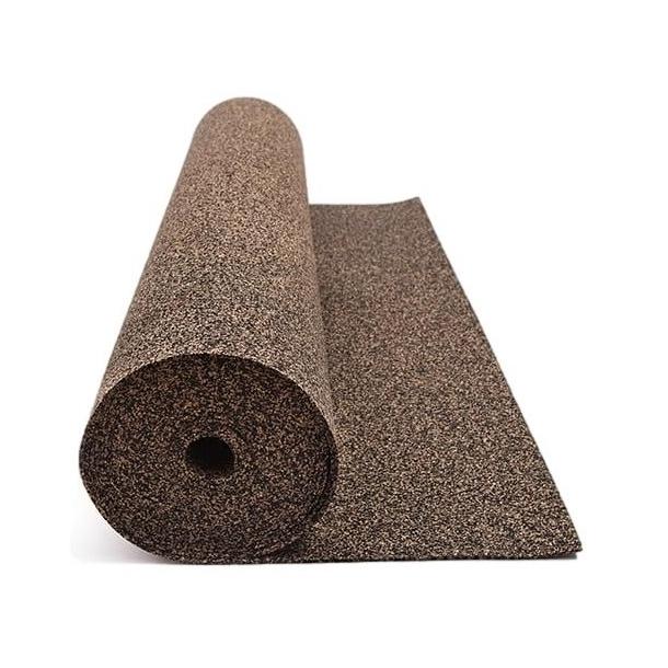 Flooring underlay rubber cork roll 3mm x 1m x 5m for all floor types