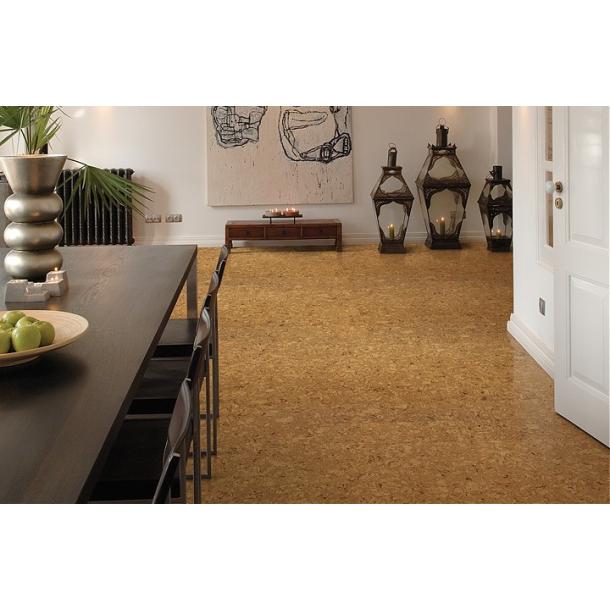 Glue down cork floor tiles Shell 4x300x300mm - 0,9 m2