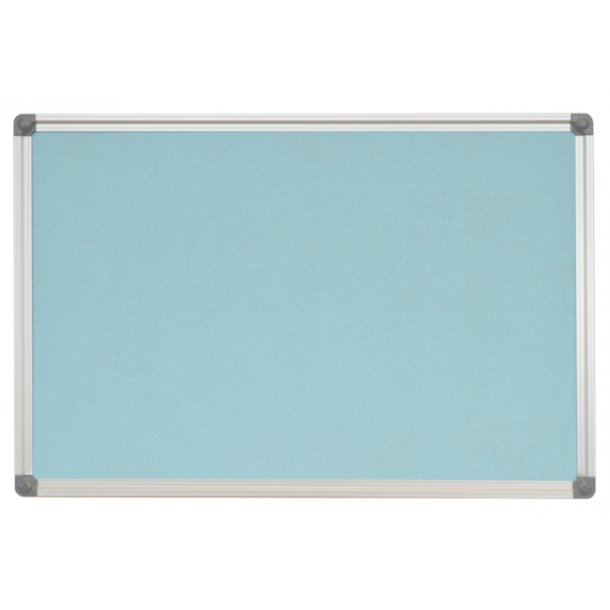 AZURE cork memo board 80x120cm with an aluminium DecoLine frame