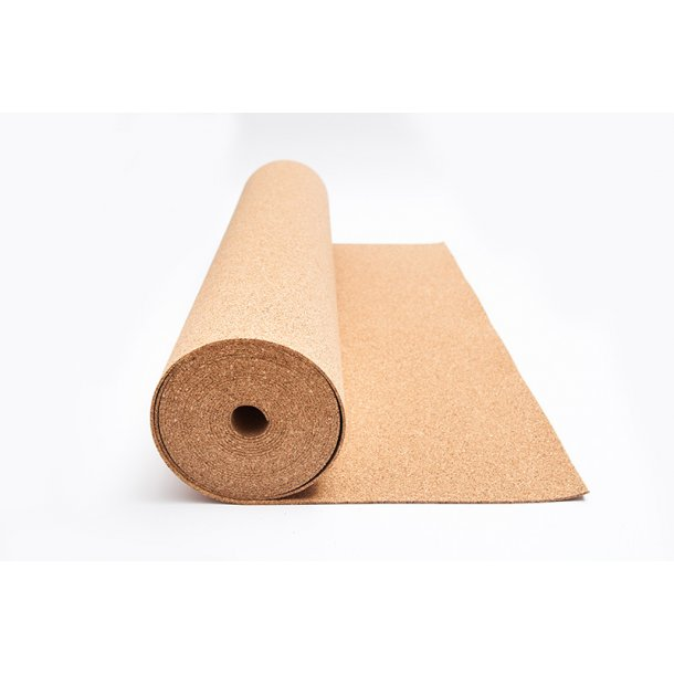Flooring underlay cork roll 6mm x 1m x 10m for all floor types