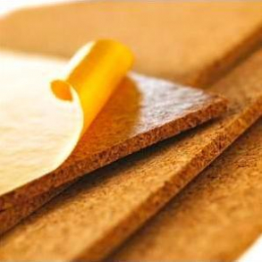 Medium grained self adhesive cork wall tiles