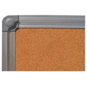 Cork pin boards with an aluminium frame