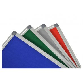 Textile pin boards with an aluminium frame