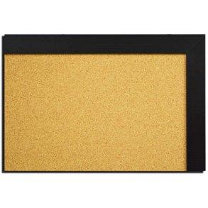 Black MDF framed cork boards