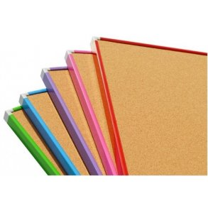 Cork pin boards with an coloured aluminium frame