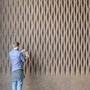 Decorative expanded 3D facade wall cork