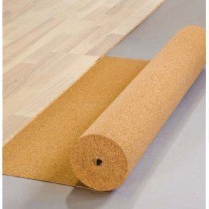 Eco friendly cork underlayment for flooring