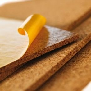 Self adhesive cork wall tiles