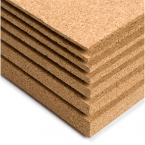 Cork board sheets and panels for wall