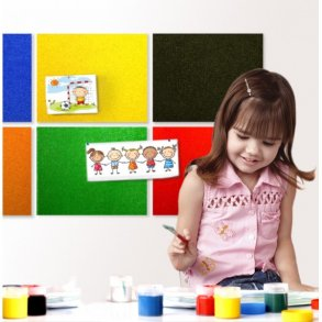 Self adhesive colored cork notice board sheets - noticeboard tiles