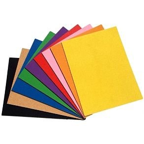 Self adhesive colored cork board sheets - noticeboard tiles