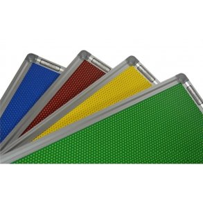 Coloured perforated magnetic boards with aluminium frame