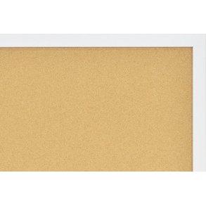 White MDF framed cork boards