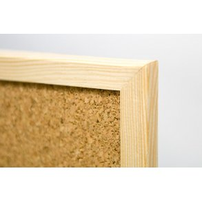 Cork display boards with a wooden frame