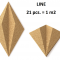 Decorative NATURAL 3D LINE cork wall tiles