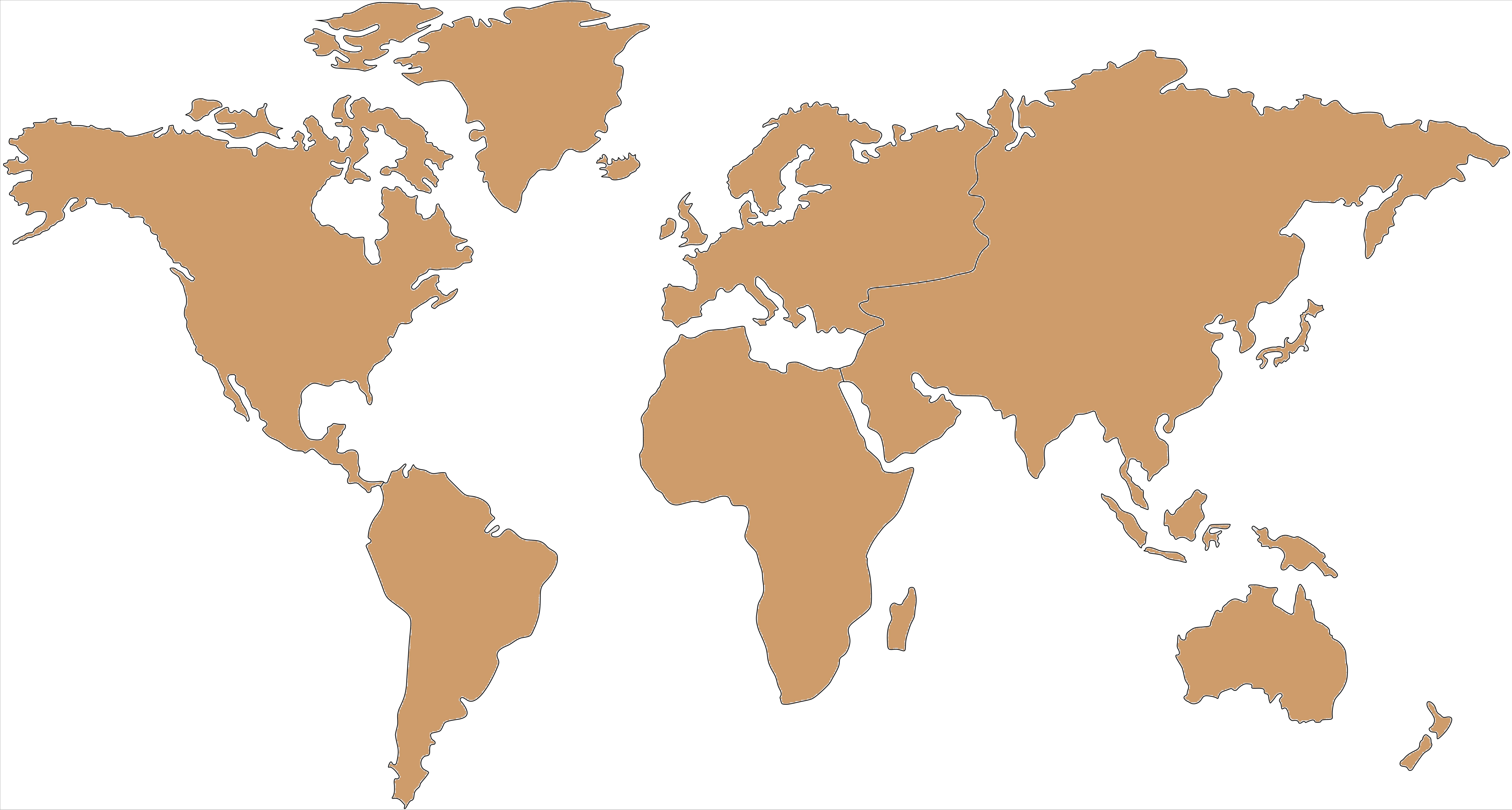 World map cork board 107x200cm - World map cork board - Experts in ...