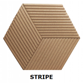 Cork wall tiles 3D Stripe & Line - Experts in cork products!