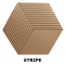 Decorative NATURAL 3D STRIPE cork wall tiles
