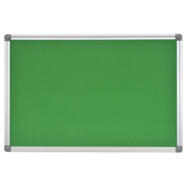 DARK GREEN cork memo board 45x60cm with an aluminium DecoLine frame
