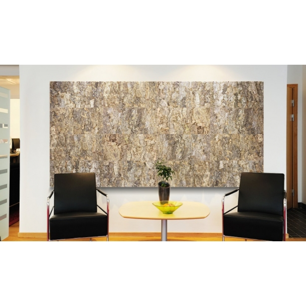Decorative wall cork bark tiles 25x500x1000mm
