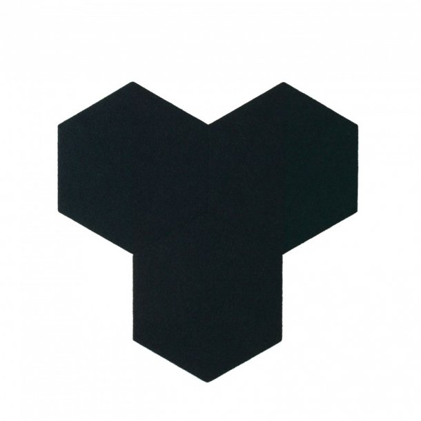plaque de li ge mural autocollant d coratif decork felt line noir. Black Bedroom Furniture Sets. Home Design Ideas