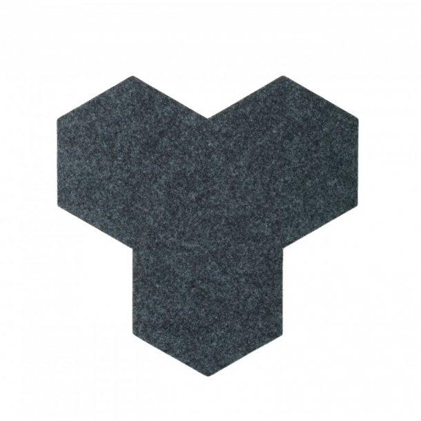 plaque de li ge d coration autocollant decork felt line gris fonc. Black Bedroom Furniture Sets. Home Design Ideas