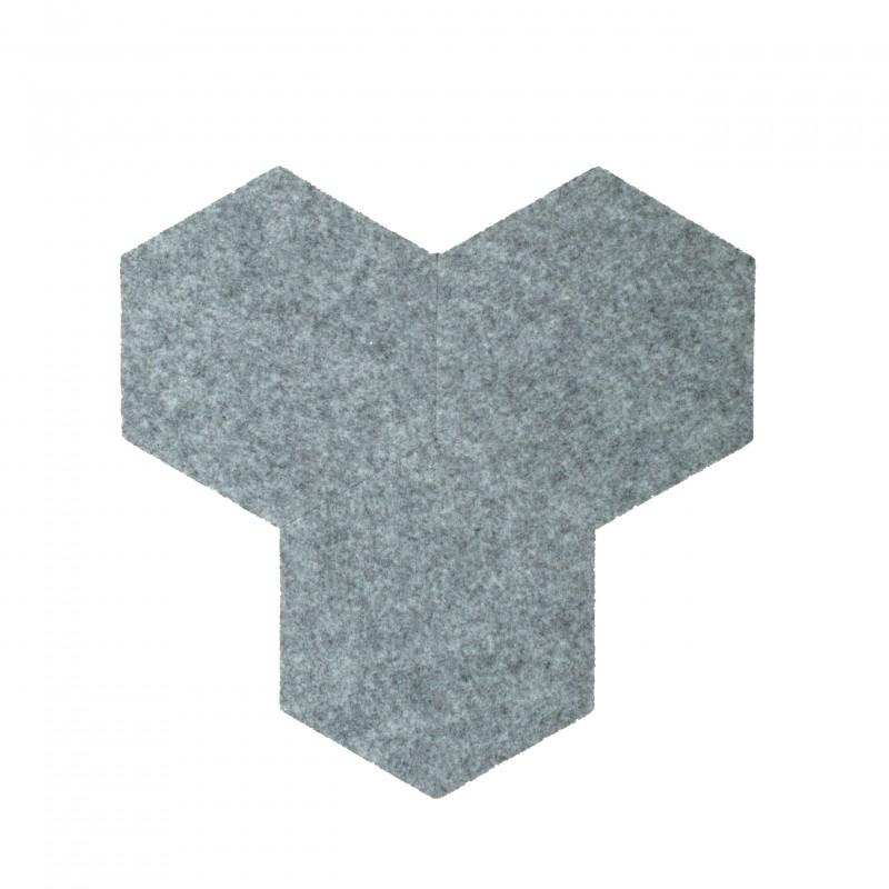 plaque de li ge mural autocollant d coratif decork felt line gris clair. Black Bedroom Furniture Sets. Home Design Ideas