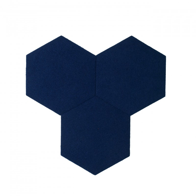 plaque de li ge mural autocollant d coratif decork felt line bleu marin. Black Bedroom Furniture Sets. Home Design Ideas