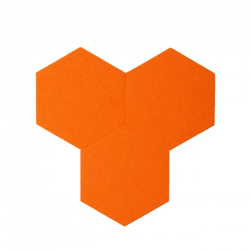 plaque de li ge d coration autocollant decork felt line orange. Black Bedroom Furniture Sets. Home Design Ideas
