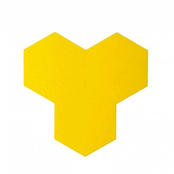 Plaque de li ge mural autocollant d coratif decork felt line jaune - Plaque de liege deco ...