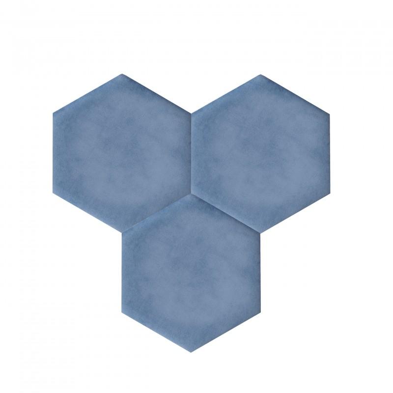 dekorative selbstklebende wandkork korkplatten decork textil line blau. Black Bedroom Furniture Sets. Home Design Ideas