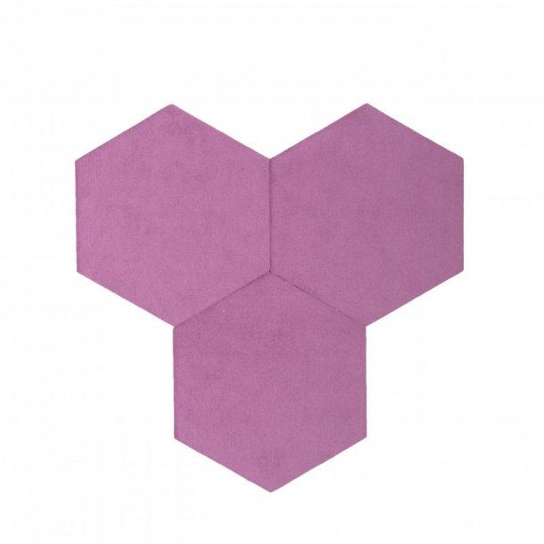 plaque de li ge d coration autocollant decork textil line violet. Black Bedroom Furniture Sets. Home Design Ideas