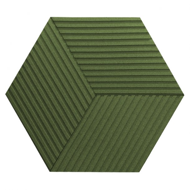 Unique and decorative GREEN cork wall tiles 3D STRIPE