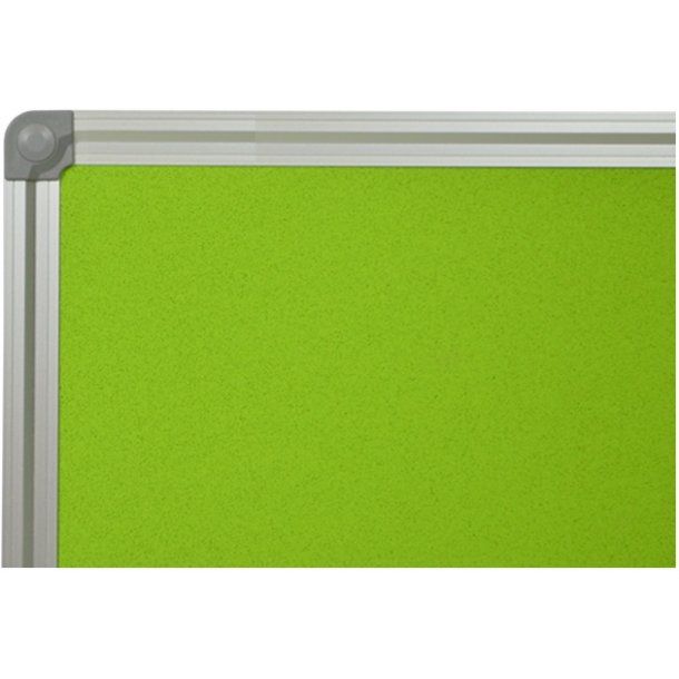 GREEN cork memo board 80x120cm with an aluminium DecoLine frame