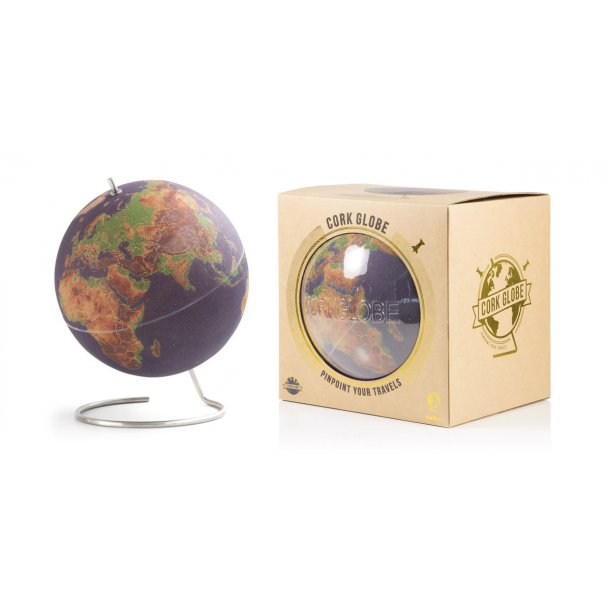 Large coloured cork globe 25cm - perfect for any globetrotter and travel enthusiast!