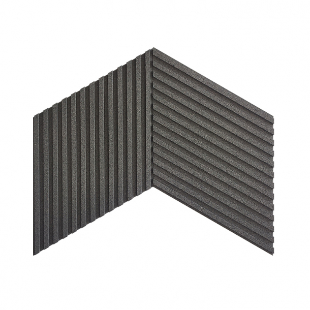 Unique and decorative GREY cork wall tiles 3D STRIPES