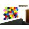 Decorative expanded self-adhesive hexagon DECORK